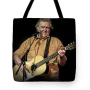 Texas Singer Songwriter Guy Clark In Concert Tote Bag