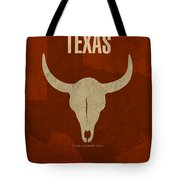 Texas State Facts Minimalist Movie Poster Art  Tote Bag by Design Turnpike