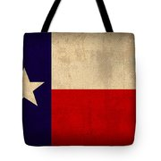 Texas State Flag Lone Star State Art On Worn Canvas Tote Bag