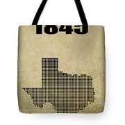 Texas Statehood 2 Tote Bag