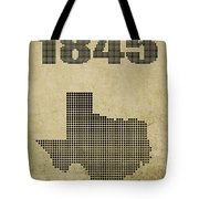 Texas Statehood Tote Bag