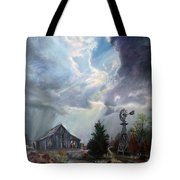 Texas Thunderstorm Tote Bag