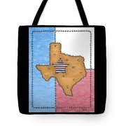 Texas Tried And True Red White And Blue Star Tote Bag