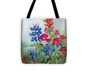 Texas Wildflowers Tote Bag