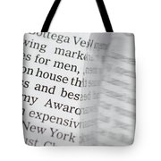 Text And Eyeglasses Tote Bag
