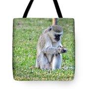Texting Monkey Tote Bag