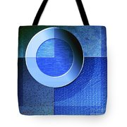 Textural In Blue Tote Bag
