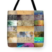 Texture Collage Tote Bag