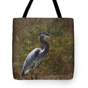 Textured Blue Heron Tote Bag
