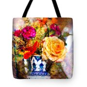 Textured Bouquet Tote Bag