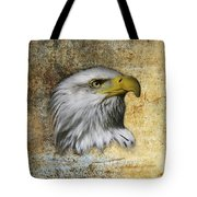 Textured Eagle  Tote Bag