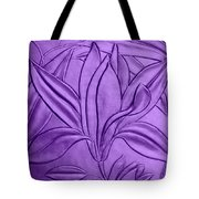Textured Flower Tote Bag