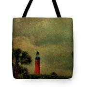 Textured Lighthouse Tote Bag