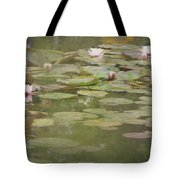 Textured Lilies Image  Tote Bag