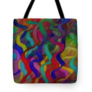 Textured Ribbons Tote Bag