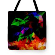 Textured Triangles With Color Tote Bag