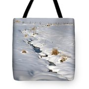 Textured Winter Blues Tote Bag