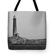Thacher Island's North Tower Lighthouse Tote Bag