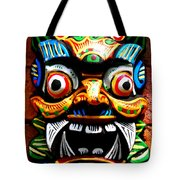 Thai Buddhist Mask Tote Bag