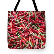 Thai Chili Peppers Background Tote Bag