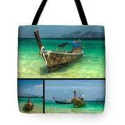 Thailand Longboats Tote Bag