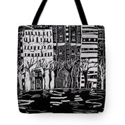 Thames In Winter Tote Bag by Hilary Rosen