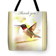 Thank You Card - Bird - Hummingbird Tote Bag
