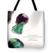 Thank You - Gratitude Rocks By Sharon Cummings Tote Bag