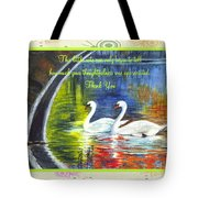 Thank You Sentiments-swans Tote Bag