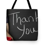 Thank You Sign On Chalkboard Tote Bag