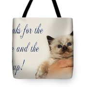 Thanks For The Rescue And The Hand Up Tote Bag by Andee Design