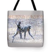 Thanks For The Ride Olive Baboon Tote Bag