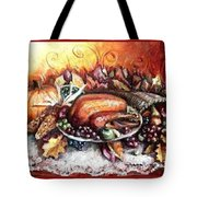 Thanksgiving Autumnal Collage Tote Bag