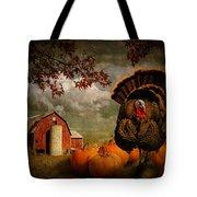 Thanksgiving Turkey Among Pumkins Tote Bag