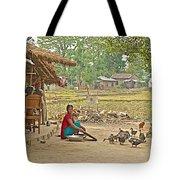 Tharu Farming Village Landscape-nepal Tote Bag