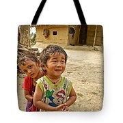 Tharu Village Children Love To Greet Us-nepal- Tote Bag