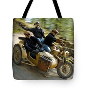 That's The Way To Ride An Army Bmw R75  Tote Bag