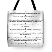 The 10 Commandments For Pets On Black Marble Tote Bag