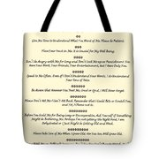 The 10 Commandments For Pets On Old Parchment Tote Bag