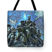 The 107th Infantry Memorial Sculpture Tote Bag