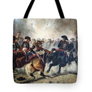 The 8th Napoleonic Cavalry Regiment Charging Into Battle  Tote Bag