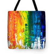 The Abstract Rainbow Beach Series I Tote Bag