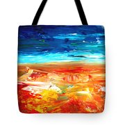 The Abstract Rainbow Beach Series II Tote Bag