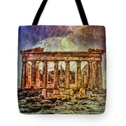 The Acropolis Of Athens Tote Bag