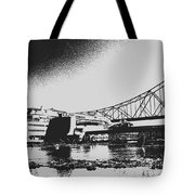 The Admiral And President's Casino In Ink Stamp Tote Bag