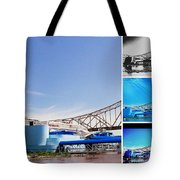 The Admiral Collage Tote Bag