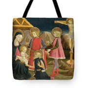 The Adoration Of The Kings And Christ On The Cross Tote Bag