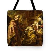The Adoration Of The Magi Tote Bag by Orazio de Ferrari
