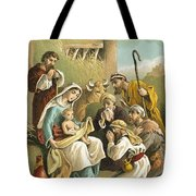 The Adoration Of The Shepherds Tote Bag by English School