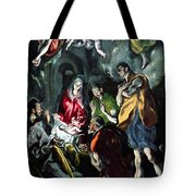 The Adoration Of The Shepherds From The Santo Domingo El Antiguo Altarpiece Tote Bag